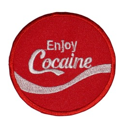 Patch Iron On Sew On Enjoy Cocaine Fun Patch Party Persiflage