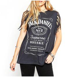 Tassels Sleeveless Casual Women's T Shirt