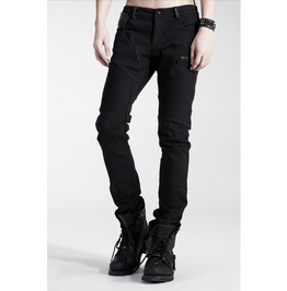 Men's Black Straight Goth Pants
