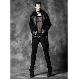 Men's Black Gothic Faux Leather Pants