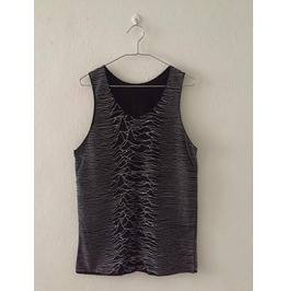 Japanese Joy Division Unknown Pleasure 2 Sides Print Tank Top