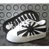 Kids tuk white and black rising sun sneaker sizes 9 10 11 baby and kids 2