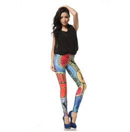 Pattern Print Leggings Pants
