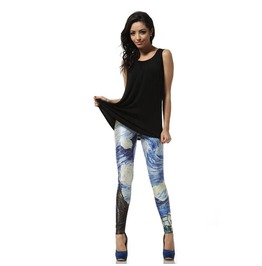 Van Gogh Starry Night Galaxy Leggings Pants