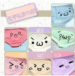 Kaomoji panties bragas emoticono wh088 panties