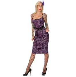 Jawbreaker Clothing Purple Leopard Pencil Dress