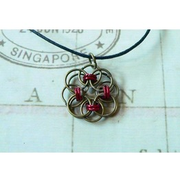 Chain Mail Pendant Necklace Nk108