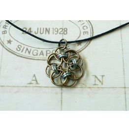 Chain Mail Pendant Necklace Nk110