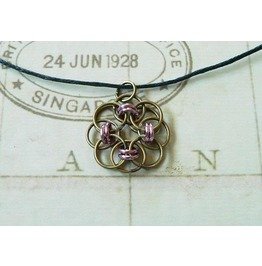 Chain Mail Pendant Necklace Nk112