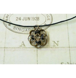 Chain Mail Pendant Necklace Nk114