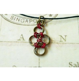 Chain Mail Pendant Necklace Nk115