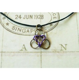 Chain Mail Pendant Necklace Nk116