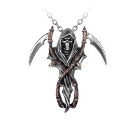 Reaper's Arms Men's Gothic Necklace By Alchemy Gothic