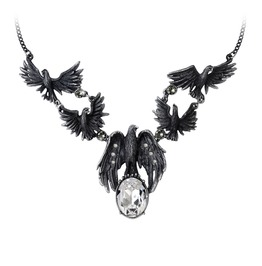 A Murder Of Crows Ladies Gothic Necklace By Alchemy Gothic