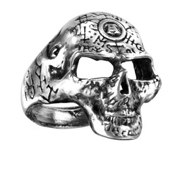 Omega Skull Men's Gothc Ring By Alchemy Gothic