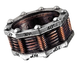 Hi Voltage Toric Generator Unisex Steampunk Ring By Alchemy Gothic