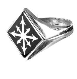 Chaos Signet Men's Gothic Ring By Alchemy Gothic