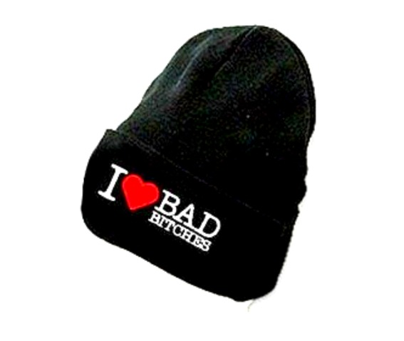 i_love_bad_bitches_black_beanie_hat_white_red_embroidered_lettering_hats_and_caps_3.jpg