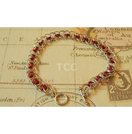 Chain Mail Bracelet (Red)