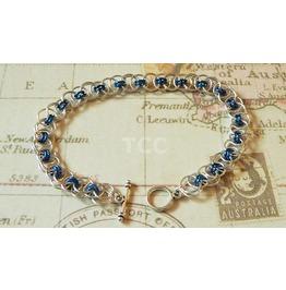 Chain Mail Bracelet (Blue)
