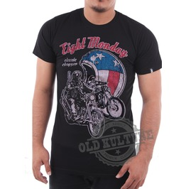 Eight Monday Rockabilly Men's Shirt Cafe Racer Motorcycle Choppers Em01
