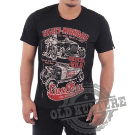 Eight Monday Rockabilly Men's Shirt Custom Cars Hot Rod Cafe Racer Em02