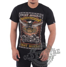 Eight Monday Rockabilly Men's Shirt Harley Eagle Motorcycle Choppers Em03