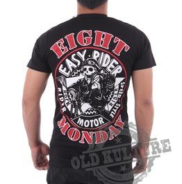 Eight Monday Rockabilly Men's Shirt Custom Cars Hot Rod Skull Rock Em12