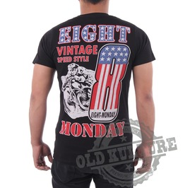 Eight Monday Rockabilly Men's Shirt Vintage Motorcycle Choppers Em13