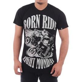 Eight Monday Rockabilly Men's T Shirt Born To Ride Motorcycle Shopper Em22
