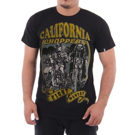 Eight Monday Men's Shirt Vintage West Coast Chopper Motorcycle Biker Em24