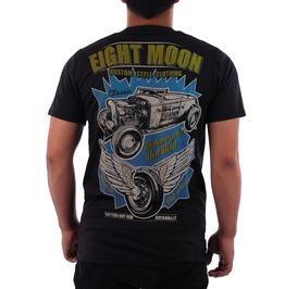 Eight Moon Rockabilly Men's Shirt Custom Cars Hot Rod Rocker En4