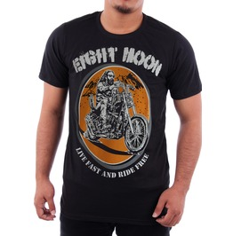 Eight Moon Rockabilly Men's Shirt West Coast Chopper Motorcycles Rock En8