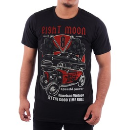 Eight Moon Rockabilly Men's Shirt Custom Cars Hot Rod Rocker En10