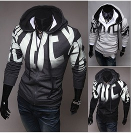 Men's Fashion Zip Up Hoodies Lw109