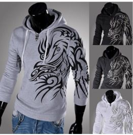 Mens dragon tattoo hoodies l1809 w03 hoodies and sweatshirts