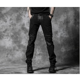 Men's Black Gothic Pants
