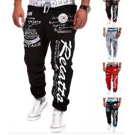 Sport Pant Man Sports Black Gray / Red / Blue / White / Grey Pants Men