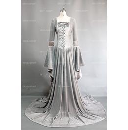 Sliver Velvet Celtic Mediveal Dress