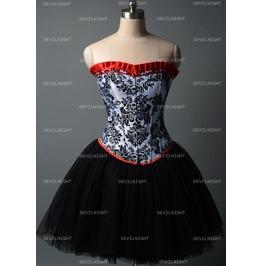 Fashion Short Gothic Corset Burlesque Party Dress