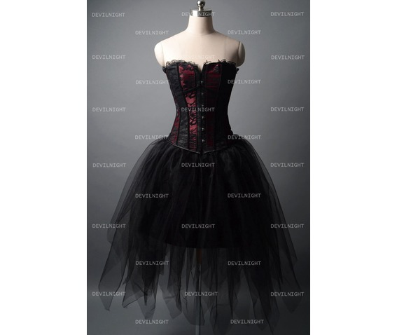 fashion_black_and_wine_red_short_gothic_corset_burlesque_party_dress_dresses_4.jpg