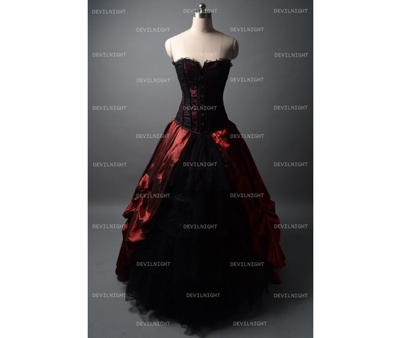 black_and_wine_red_gothic_corset_burlesque_prom_party_dress_dresses_4.jpg