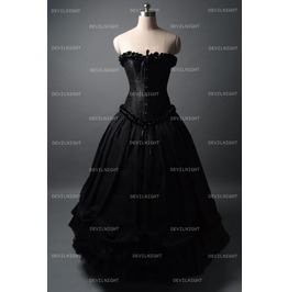 black velvet vintage winter outfit victorian dress 96811