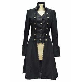 Black Gothic Long Coat For Women