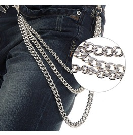 Punk Silver Colored Pant Chain