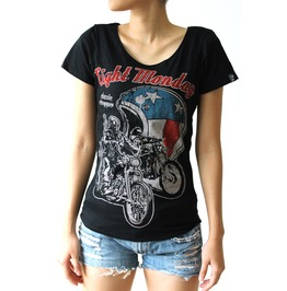 Eight Monday Rockabilly Vintage Cafe Racer West Coast Chopper Motorcycle E1
