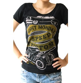 Eight Monday Rockabilly Shirt Hot Rod Vintage Cafe Racer Pin Up Em6