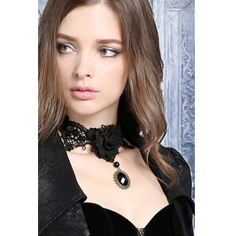 Ack106 Gothic Rose Necklace Choker