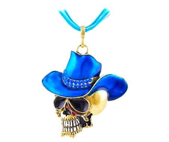 cool_skull_head_turquoise_blue_enamel_cowboy_hat_pendant_pendants_2.jpg