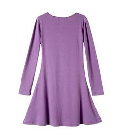Pretty Purple Long Sleeved Top Or Mini Dress Uk Size 12